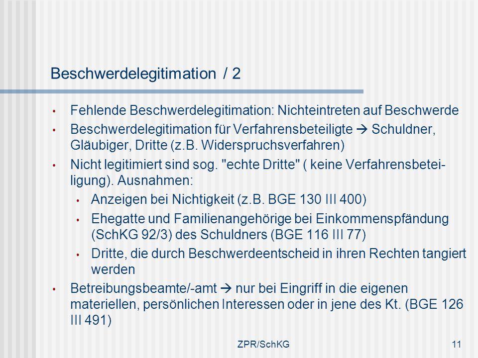 Beschwerdelegitimation / 2