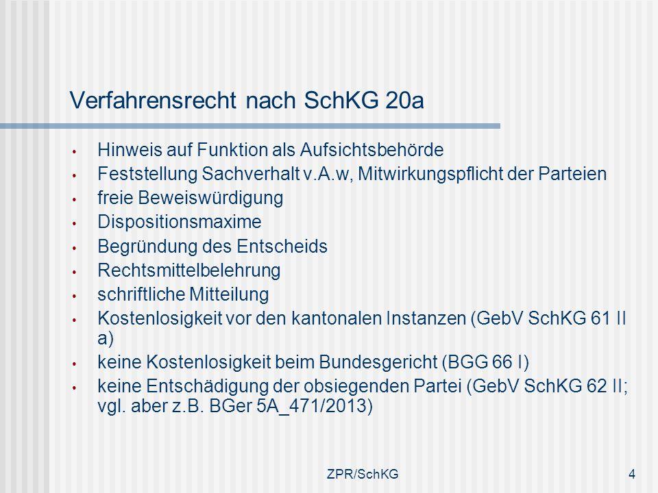 Verfahrensrecht nach SchKG 20a