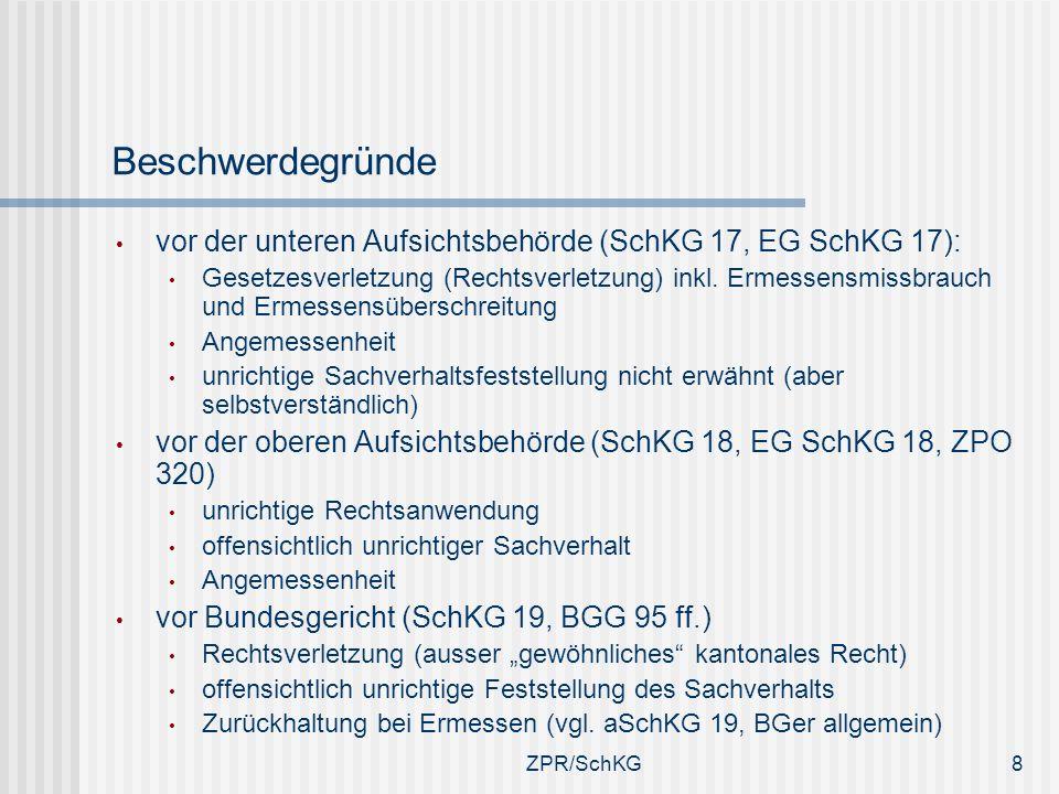 Beschwerdegründe vor der unteren Aufsichtsbehörde (SchKG 17, EG SchKG 17):