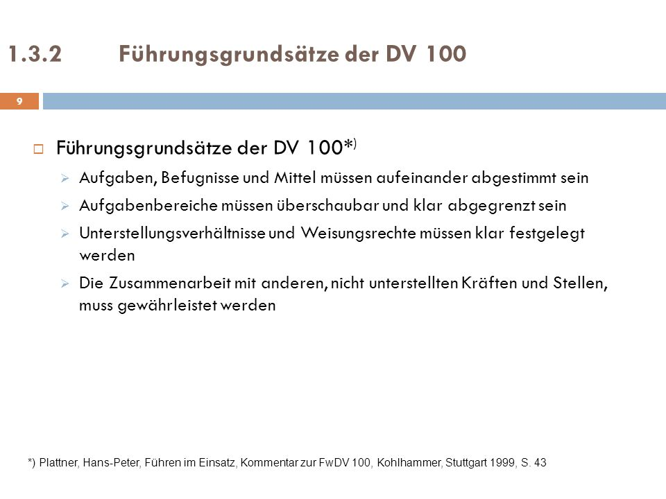 1.3.2 Führungsgrundsätze der DV 100