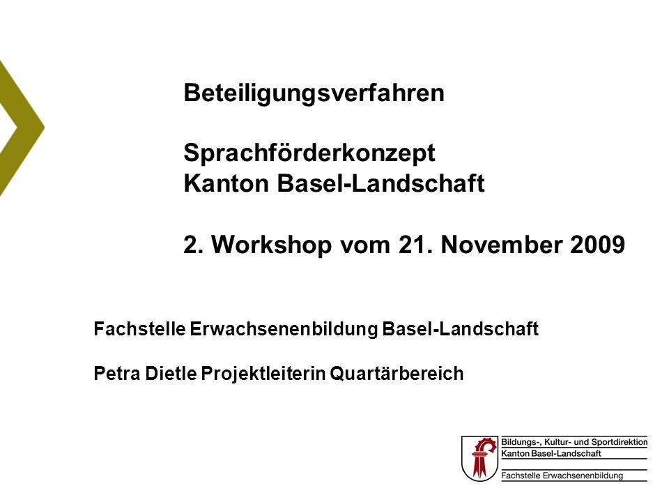 Beteiligungsverfahren Sprachförderkonzept Kanton Basel-Landschaft