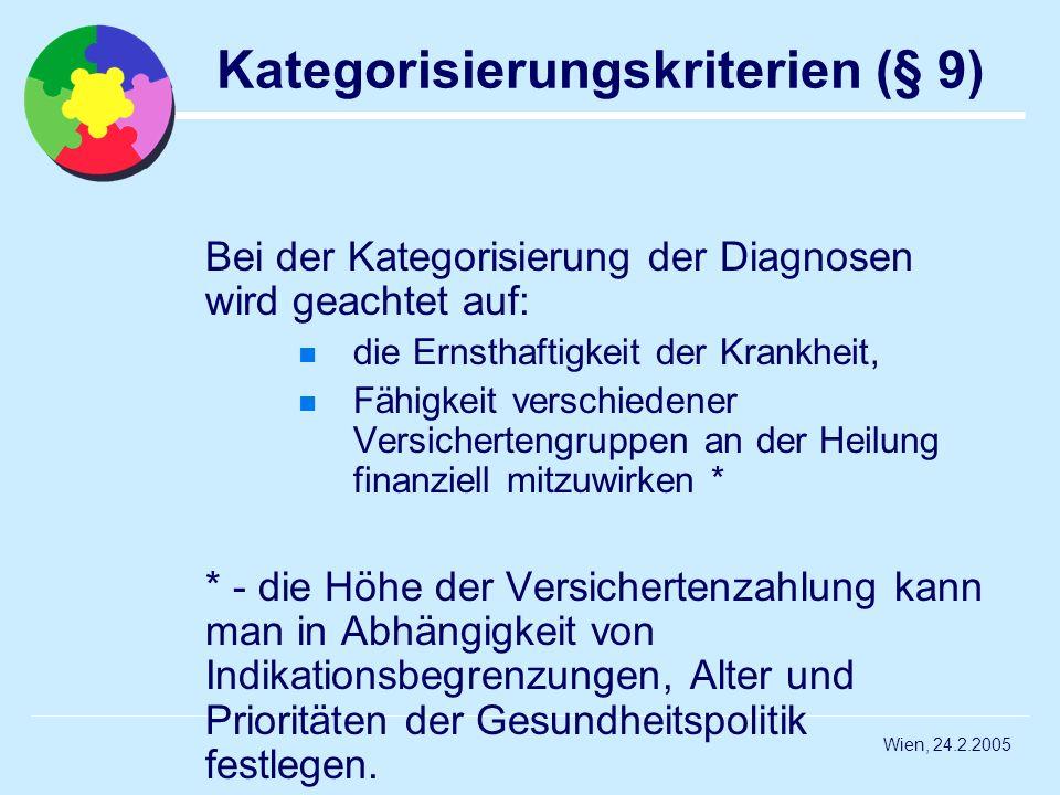 Kategorisierungskriterien (§ 9)