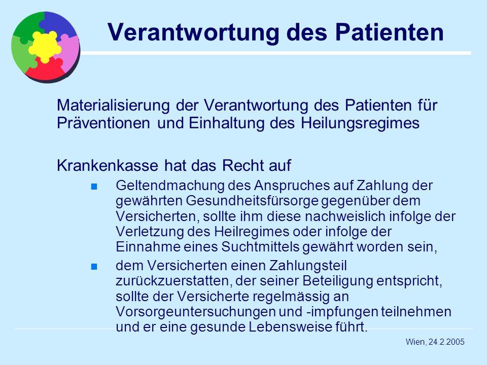 Verantwortung des Patienten