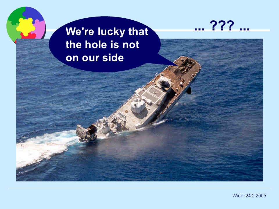 We re lucky that the hole is not on our side