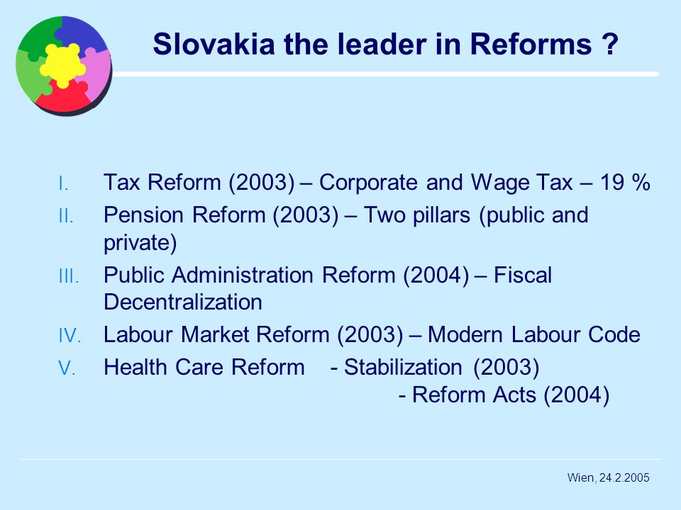 Slovakia the leader in Reforms