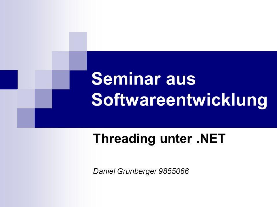 Seminar aus Softwareentwicklung