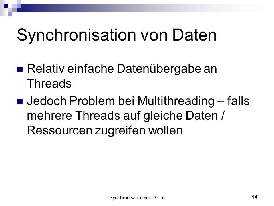 Synchronisation von Daten