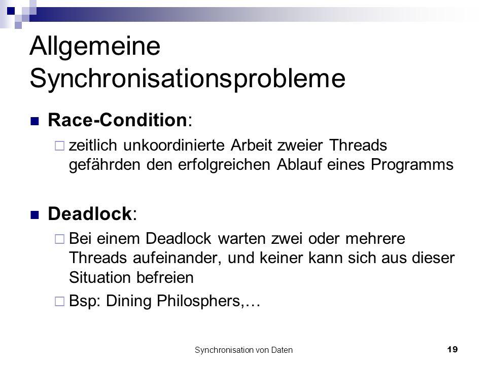 Allgemeine Synchronisationsprobleme