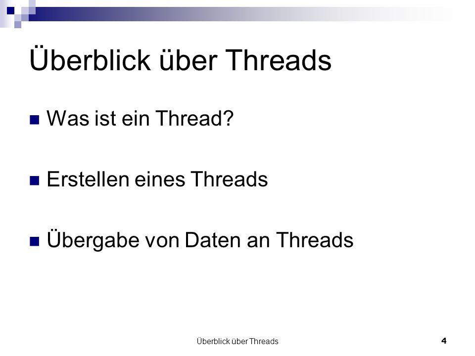 Überblick über Threads