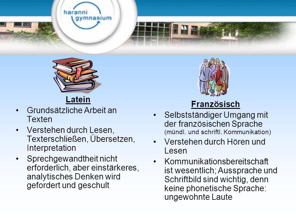 Latein Grundsätzliche Arbeit an Texten. Verstehen durch Lesen, Texterschließen, Übersetzen, Interpretation.