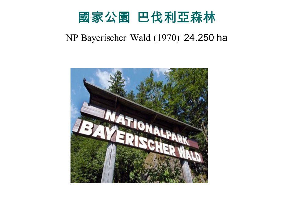 國家公園 巴伐利亞森林 NP Bayerischer Wald (1970) 24.250 ha