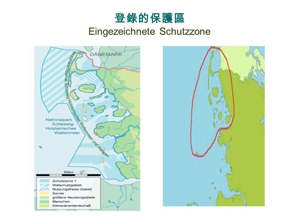 登錄的保護區 Eingezeichnete Schutzzone