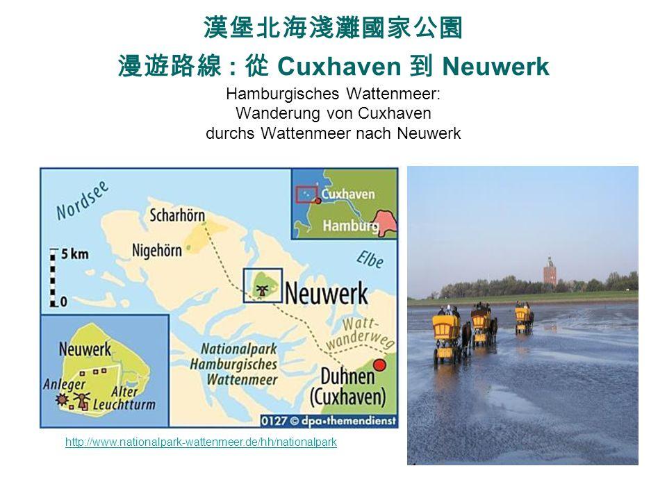 漢堡北海淺灘國家公園 漫遊路線 : 從 Cuxhaven 到 Neuwerk Hamburgisches Wattenmeer: Wanderung von Cuxhaven durchs Wattenmeer nach Neuwerk