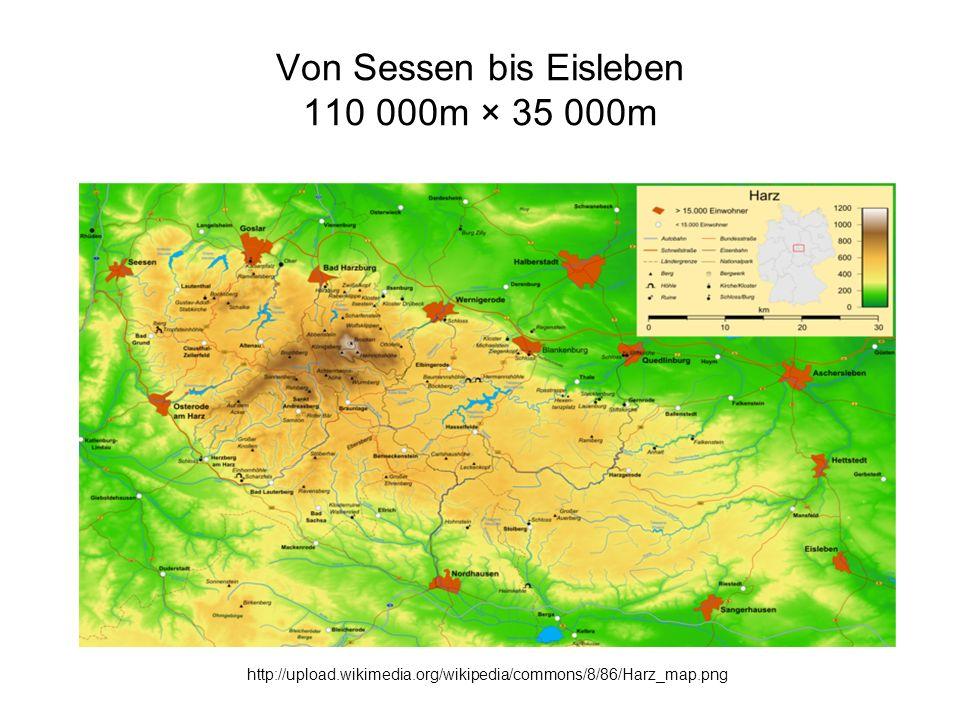 Von Sessen bis Eisleben 110 000m × 35 000m