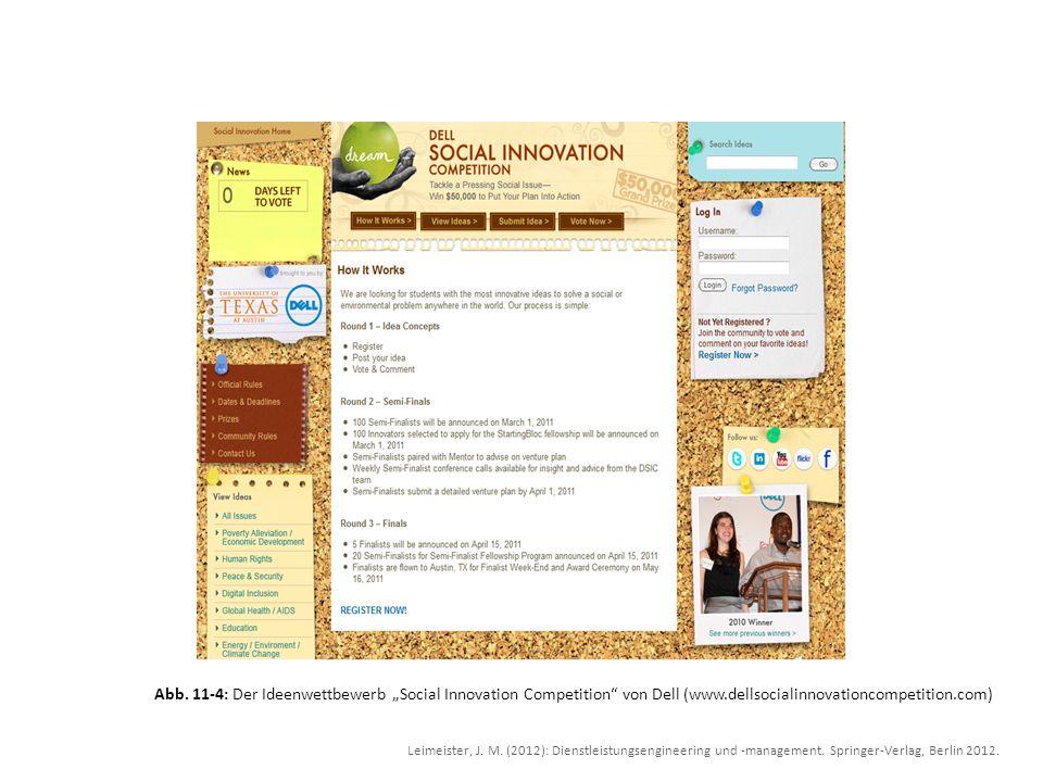 "Abb. 11-4: Der Ideenwettbewerb ""Social Innovation Competition von Dell (www.dellsocialinnovationcompetition.com)"