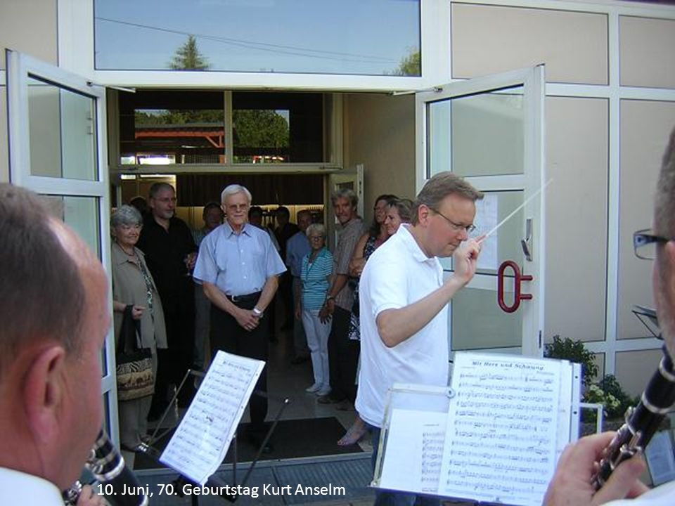 10. Juni, 70. Geburtstag Kurt Anselm
