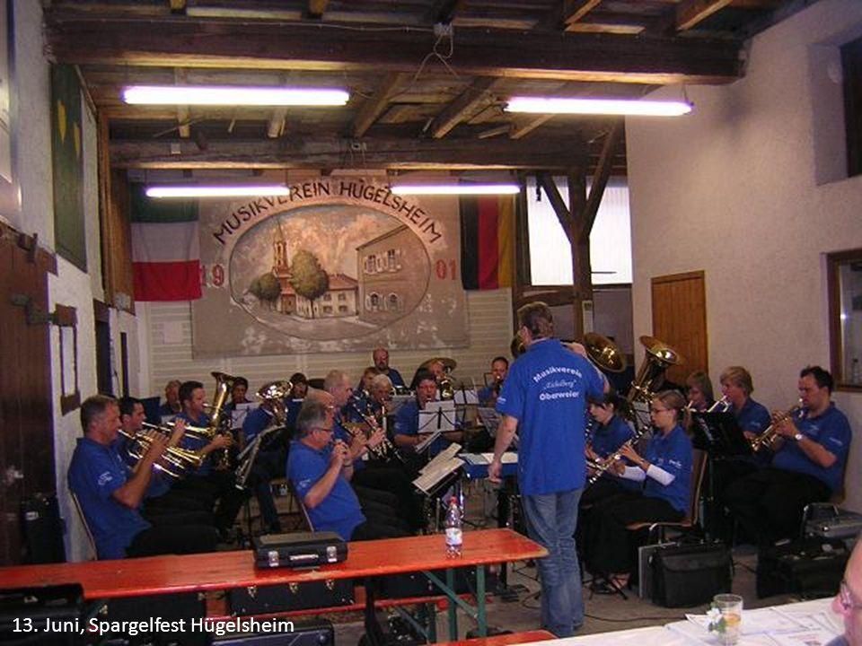 13. Juni, Spargelfest Hügelsheim
