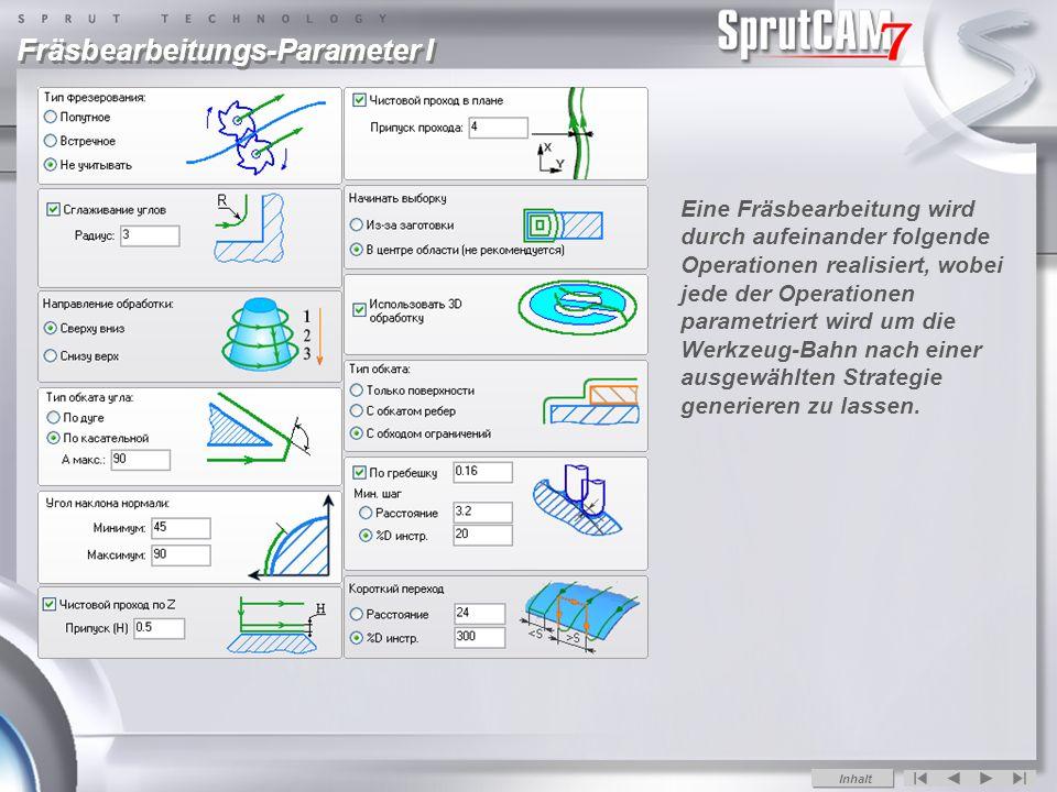 Fräsbearbeitungs-Parameter I