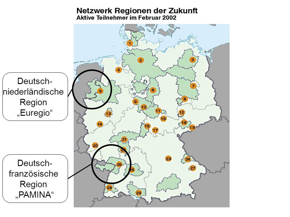 """Deutsch- niederländische Region """"Euregio Deutsch- französische Region """"PAMINA"""
