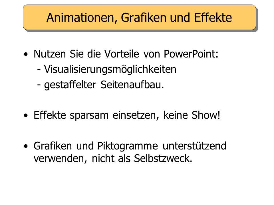 Animationen, Grafiken und Effekte