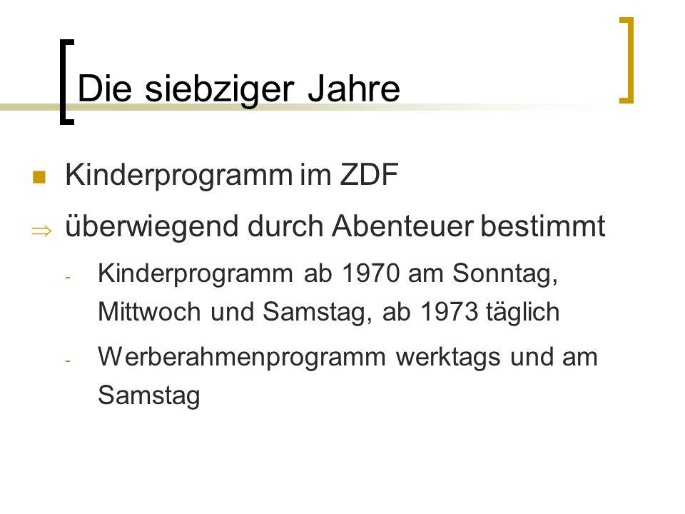 Die siebziger Jahre Kinderprogramm im ZDF