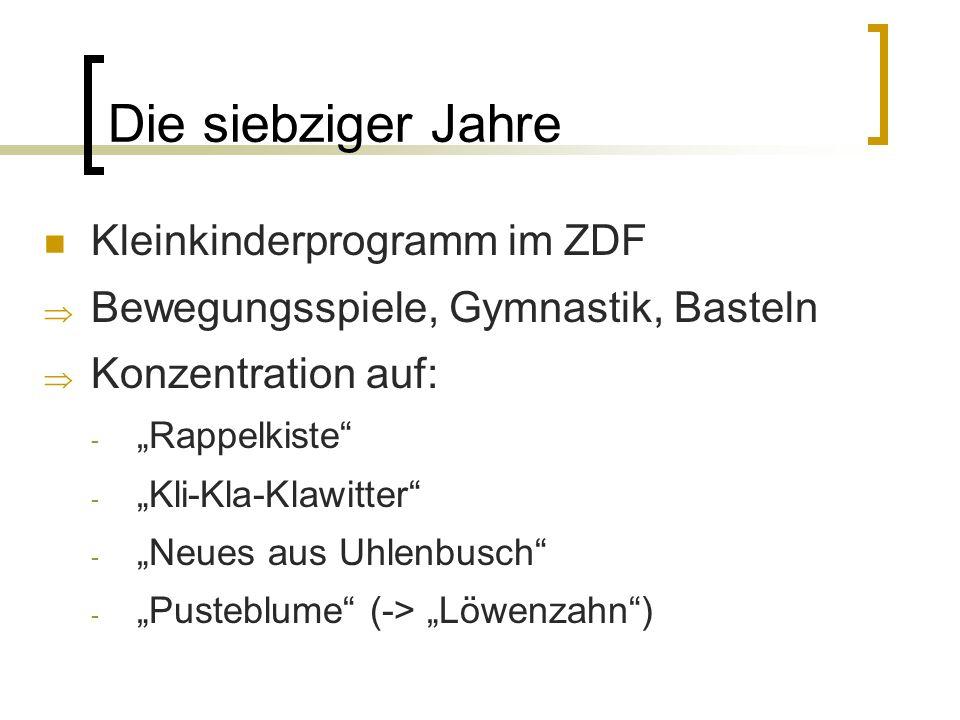 Die siebziger Jahre Kleinkinderprogramm im ZDF
