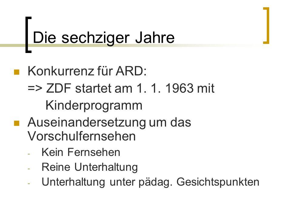 Die sechziger Jahre Konkurrenz für ARD:
