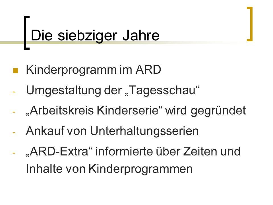 Die siebziger Jahre Kinderprogramm im ARD