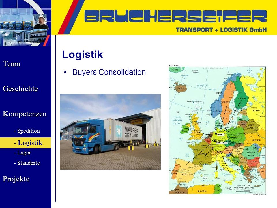 Logistik Buyers Consolidation Bremen Wissen / Sieg Logistik