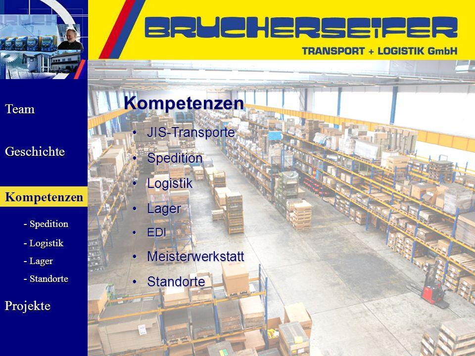 Kompetenzen JIS-Transporte Spedition Logistik Lager Meisterwerkstatt