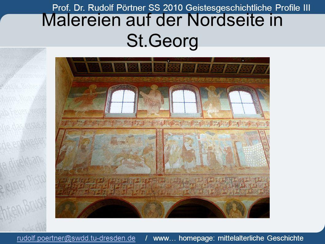 Malereien auf der Nordseite in St.Georg