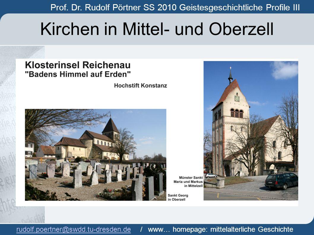 Kirchen in Mittel- und Oberzell