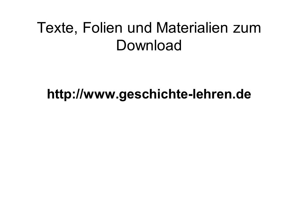 Texte, Folien und Materialien zum Download