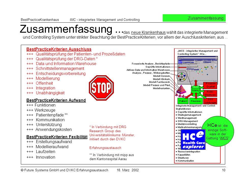 HCe ist die einzige Soft-ware in der Gattung iMCS