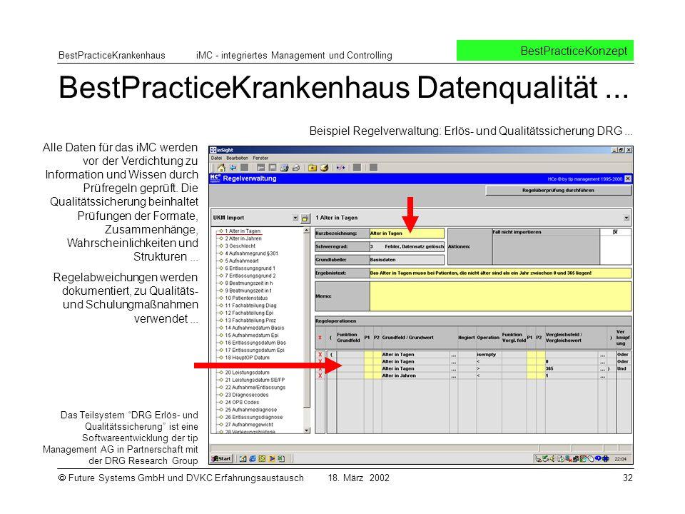 BestPracticeKrankenhaus Datenqualität ...