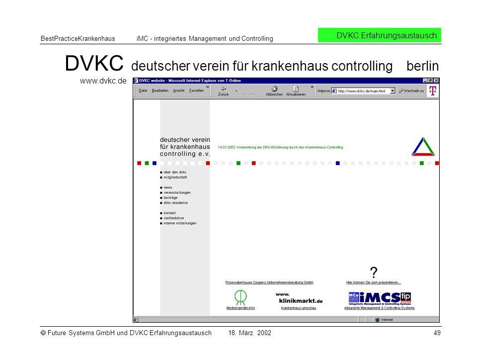 DVKC deutscher verein für krankenhaus controlling berlin