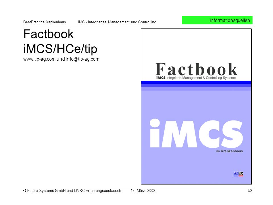Factbook iMCS/HCe/tip