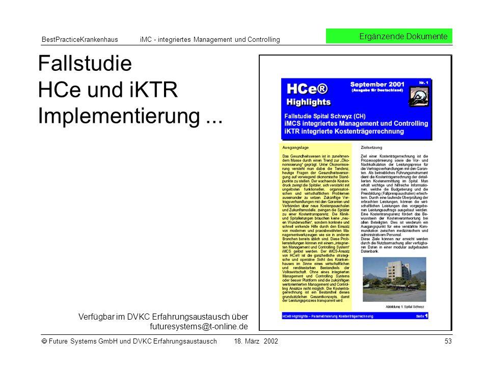 Fallstudie HCe und iKTR Implementierung ...