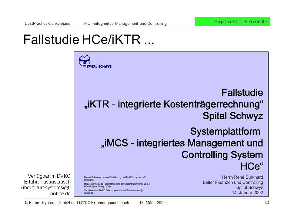Fallstudie HCe/iKTR ... Ergänzende Dokumente
