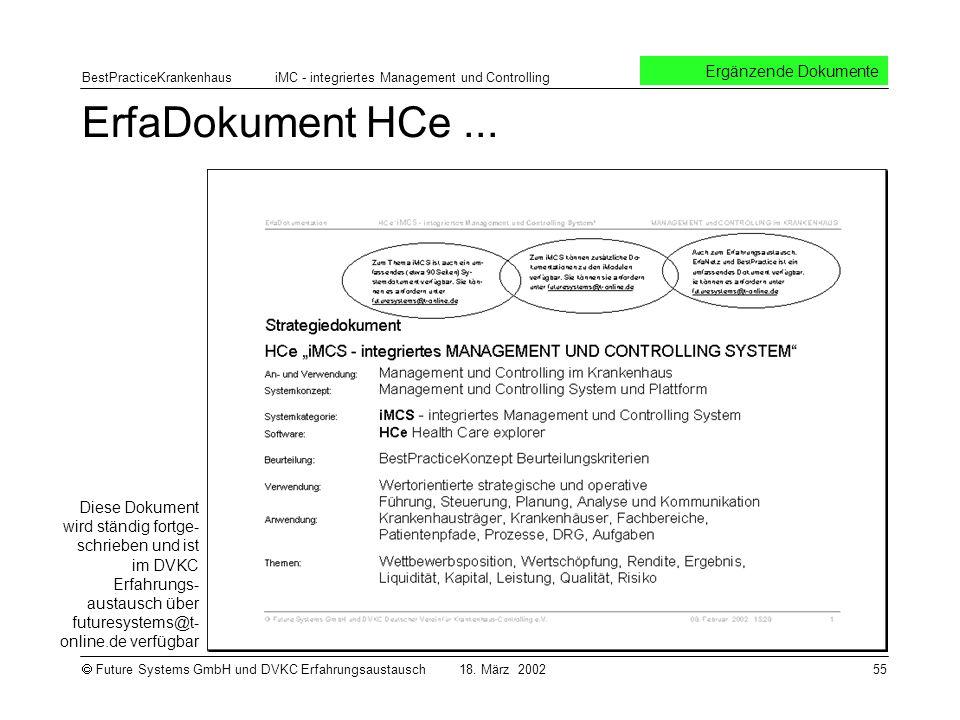 ErfaDokument HCe ... Ergänzende Dokumente