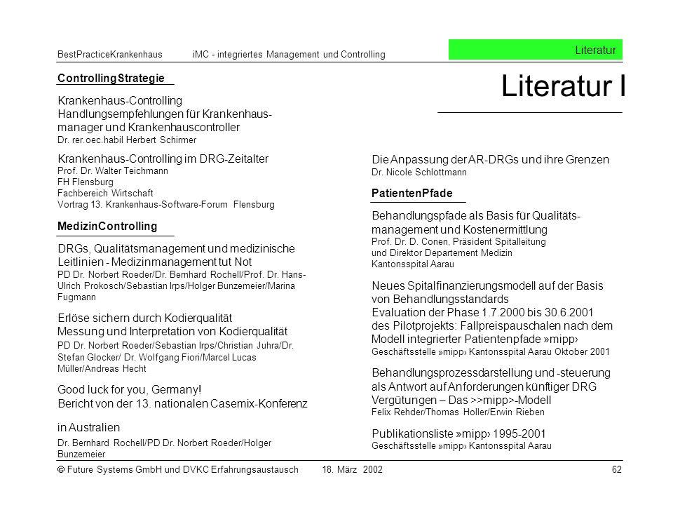 Literatur I Literatur ControllingStrategie