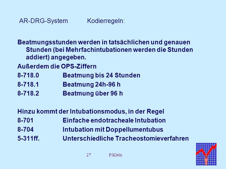 AR-DRG-System Kodierregeln: