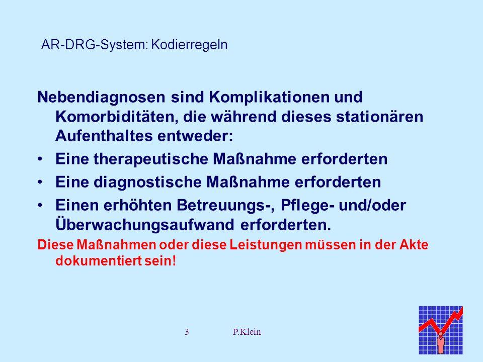 AR-DRG-System: Kodierregeln