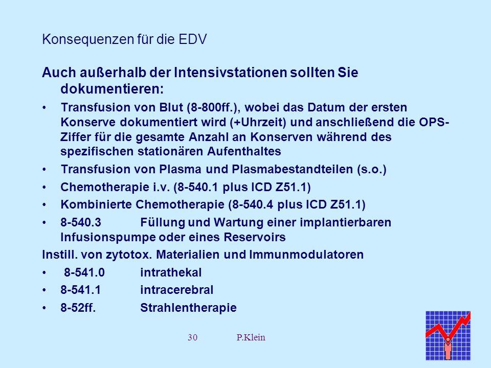 Konsequenzen für die EDV