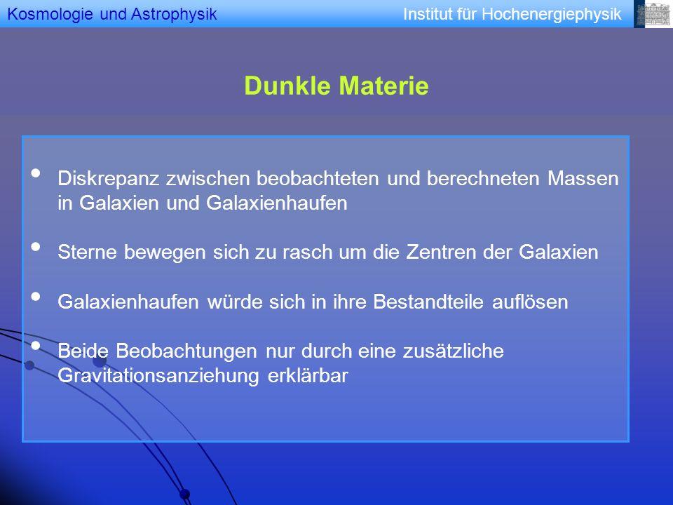 Kosmologie und Astrophysik
