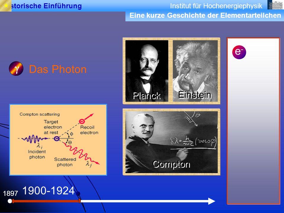e- g Das Photon 1900-1924 Planck Einstein Compton 