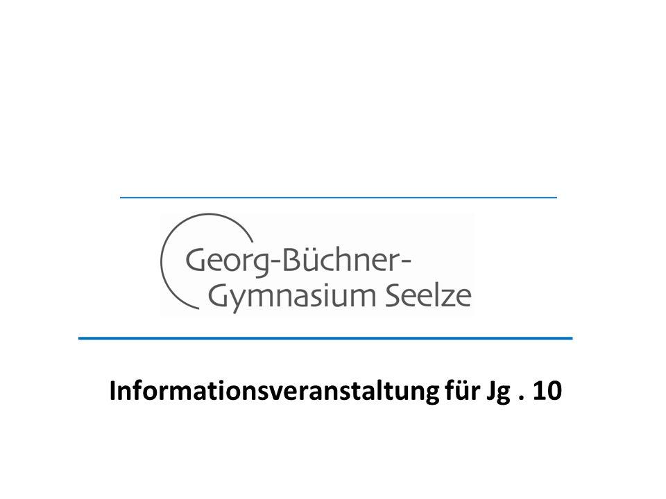 Informationsveranstaltung für Jg . 10