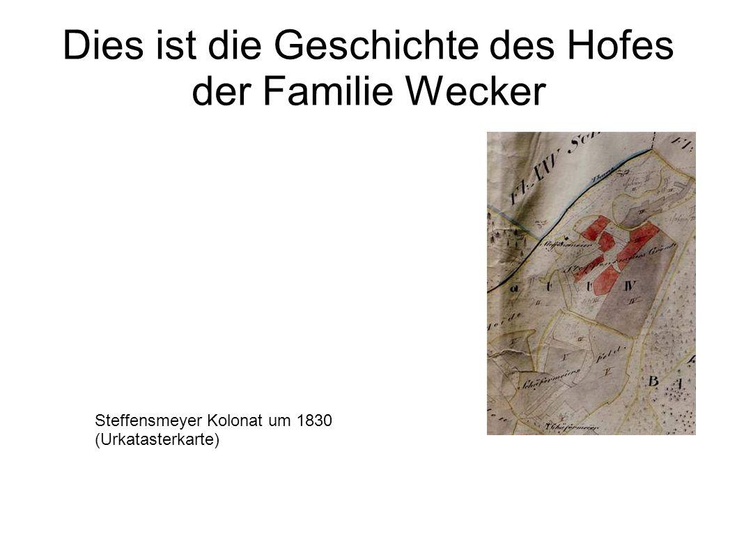 Dies ist die Geschichte des Hofes der Familie Wecker