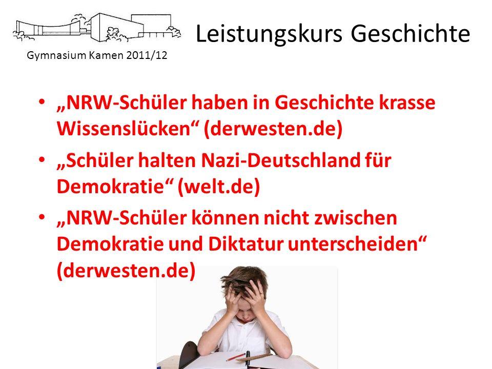 """""""NRW-Schüler haben in Geschichte krasse Wissenslücken (derwesten.de)"""