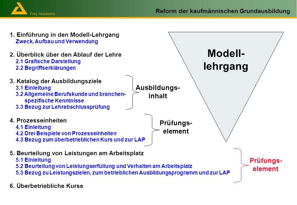 Modell- lehrgang Ausbildungs- inhalt Prüfungs-element Prüfungs-